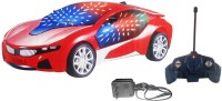 Imstar Chargeable 3D Remote Control Lightning Famous Car(Red)