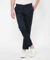 Metronaut Slim Fit Men Polycotton Dark Blue Trousers