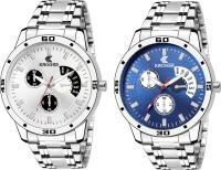 KROGER KRG1205 White & Blue Metalic Combo Watch For MEN & BOY Analog Watch  - For Men
