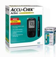 Accu-Chek Active Glucometer (10 Strips, Black)