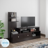 @home by Nilkamal Aroy Engineered Wood TV Entertainment Unit(Finish Color - CAPPUCINO)