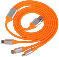 OLECTRA Universal USB to 3 In 1 Lightning 8 Pin + Android (micro usb) + type C charging USB cable adapter (Multicolor) USB Adapter(Orange)