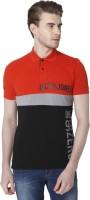 Jack & Jones Graphic Print Men Polo Neck Red T-Shirt