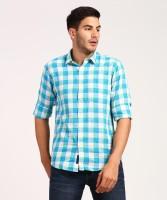 CAVALLO by Linen Club Men Checkered Casual Multicolor Shirt