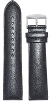 KOLET Padded Dotted 22B 22 mm Genuine Leather Watch Strap(Black)