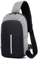 TASLAR Mini Shoulder Bag with Charging Slot Waterproof Multipurpose Bag(Silver, Grey, 3 L)