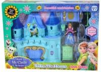 eEdgestore Castle Doll House with Accessorize(Multicolor)