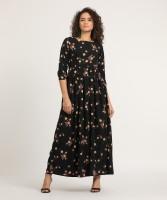 Tokyo Talkies Women Maxi Black Dress