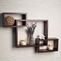 Wall1ders Wooden Wall Shelf(Number of Shelves - 3)