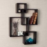 Wall1ders Wooden Wall Shelf(Number of Shelves - 4)