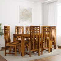 Induscraft Ethina Sheesham Solid Wood 6 Seater Dining Set(Finish Color - Brown)