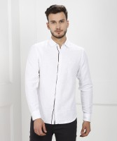 United Colors of Benetton Men's Self Design Casual White Shirt