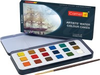 Camel Artist Water Colour Cakes - 18 Shades(Set of 19, Multicolor)