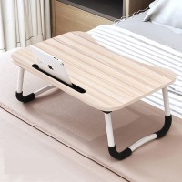 FurnCentral Engineered Wood Portable Laptop Table(Finish Color - Apple Wood)