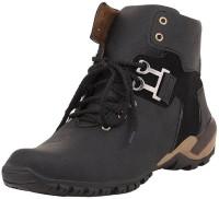 GSTM Men's Syenthetic Leather boots Shoes Boots For Men(Black)