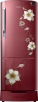 Samsung 215 L Direct Cool Single Door 3 Star Refrigerator with Base Drawer(Star Flower Red, RR22N383ZR2/HL)