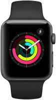 Apple Watch Series 3 GPS - 42 mm Space Grey Aluminium Case with Black Sport Band(Black Strap Regular)