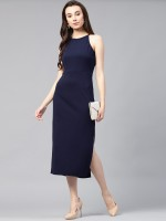 Zima leto Women Fit and Flare Blue Dress