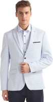 Arrow Solid Single Breasted Formal Men Blazer(White)