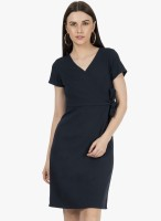 FabAlley Women Shift Black Dress