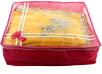 JaipurCrafts Exlusive Saree cover Full Transparent With Capacity of 10-15 Sarees (Non Wooven Transparent(Red)