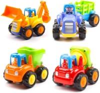 Webby Unbreakable Construction Automobiles Toy Set(Multicolor)