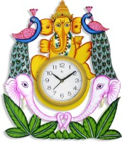 Flipkart SmartBuy Analog 40.64 cm X 35.56 cm Wall Clock(Multicolor, With Glass)