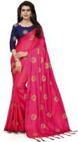 Fashion Ritmo Embroidered Bollywood Silk Saree(Multicolor)