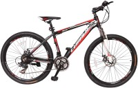 LUMALA Wild Beast Alloy Bike For Adults Black 26 T Mountain/Hardtail Cycle(21 Gear, Black, Red)