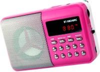 OYD BT246 New Digital Sound fm Radio support recording , usb pendrive, aux in FM Radio(Pink)