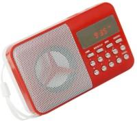 CRETO BT246 Digital Sound with Digital Display Radio FM Support USB Pen-drive, Memory Card, Aux in , Recording FM Radio(Red)
