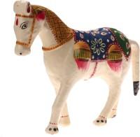 DreamKraft 6 Inch Paper Mache Horse Showpiece Idol For Home Décor And Gift Purpose Decorative Showpiece  -  18 cm(Paper Mache, White)