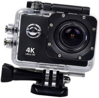 ALONZO 4K Sports Action Camera Ultra HD Waterproof DV Camcorder 16MP 170 Degree Wide Angle Sports and Action Camera(Black, 16 MP)