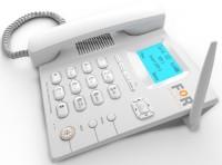 FOR GSM DUAL SIM F1+FIX WIRELESS PHONE,CORDED&CORDLESS Corded & Cordless Landline Phone with Answering Machine(White)