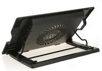 TechGear Adjustable Laptop stand Ergonomic suitable for laptop Cooling Pad(Black)