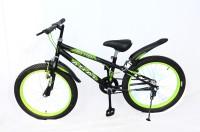Atlas Mettle Sports Bike For Kids Of Age 5-8Yrs Matt Black&Green 20 T Recreation Cycle(Single Speed, Black)
