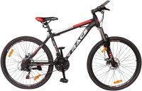 HYDRA Knight 27.5 Dual Disc Bike For Adults Black 27.5 T Mountain/Hardtail Cycle(21 Gear, Black, Red)
