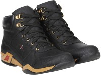 Kraasa Riding Rockers Boots For Men(Black)