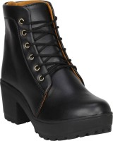 TOSHINA SHOES KING Women Casual Boots For Women(Black)