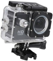 ALONZO 1080P Sports Camera Ultra HD Waterproof DV Camcorder 12MP 170 Degree Wide Angle Sports and Action Camera(Black, 12 MP)