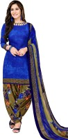 Fashion Valley Crepe Self Design Salwar Suit Dupatta Material(Un-stitched)