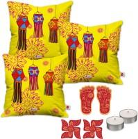 Indigifts Cushion, Candle Gift Set
