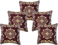 Sparklings Damask Cushions Cover(Pack of 5, 40.34 cm*40.34 cm, Maroon)