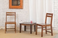 The Jaipur Living Torino Solid Wood Dining Chair(Set of 2, Finish Color - Honey Brown)