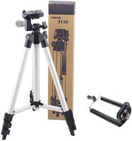 Buy Genuine Tripod 3110A 3-Way Head, Built in Level, Aluminium Legs, Quick Lever Lock Mini Tripod for phone and camera | Foldable Tripod Stand for Mobile Camera, DSLR, Smartphone & Action Cameras Tripod Kit(Multicolor, Supports Up to 3000)
