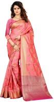 Shoppershopee Woven, Animal Print Banarasi Poly Silk, Art Silk Saree(Multicolor)