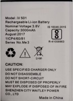 Amnicor Mobile Battery For IVoomi 501 Me3/Me3s