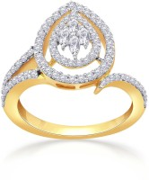 Malabar Gold and Diamonds BMR-FSET-33-RD_Y_VVS VS-GH_11 18kt Diamond Yellow Gold ring