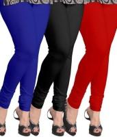 CN FASHION Churidar  Legging(Red, Blue, Black, Solid)