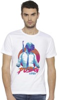 Canis Graphic Print Men Round Neck White T-Shirt